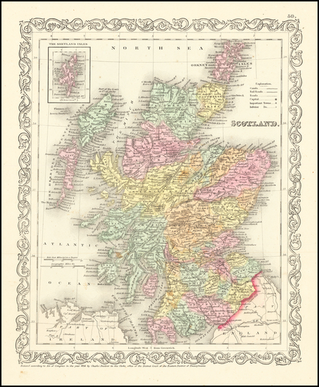 Scotland Map By Charles Desilver