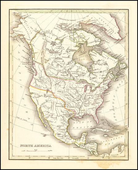87-Texas and North America Map By Thomas Gamaliel Bradford