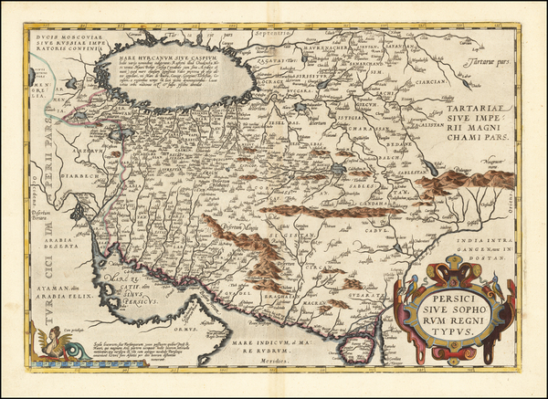 90-Persia Map By Abraham Ortelius