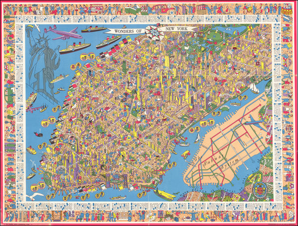 6-New York City and Pictorial Maps Map By Nils Hansell