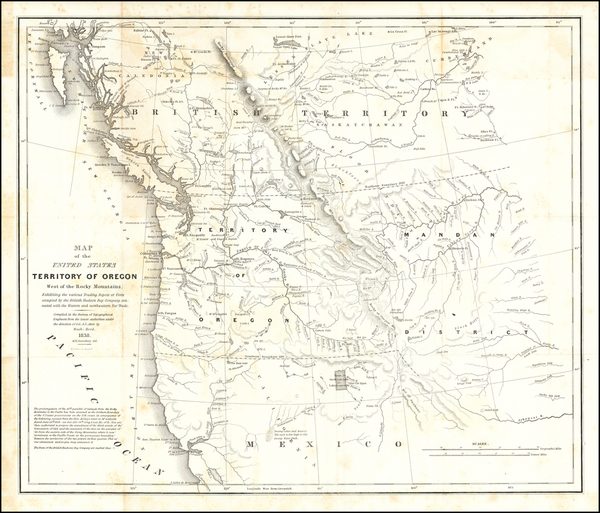 4-Rocky Mountains, Pacific Northwest, Oregon and Washington Map By Washington Hood