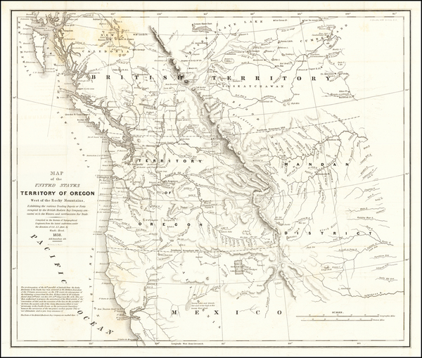 95-Idaho, Pacific Northwest, Oregon and Washington Map By Washington Hood