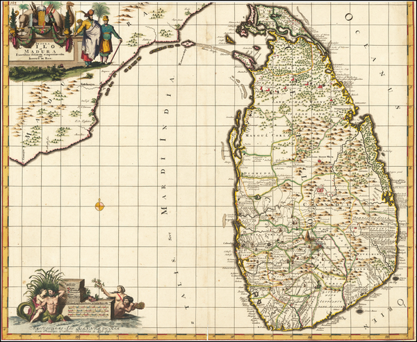 28-India and Sri Lanka Map By Reiner & Joshua Ottens