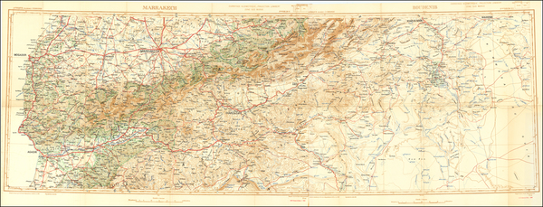 80-North Africa Map By Service Geographique du Maroc