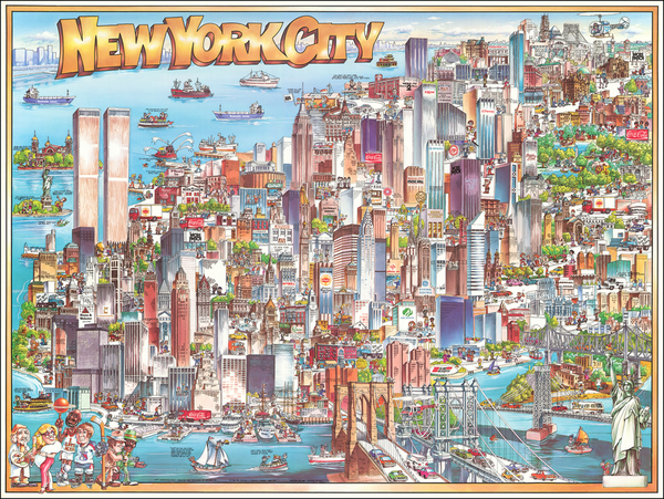 66-New York City and Pictorial Maps Map By Archar Inc.