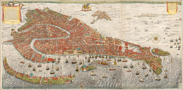 49-Venice Map By Stefano Scolari  &  Giovanni Merlo