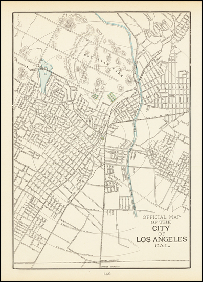 Los Angeles Map By George F. Cram