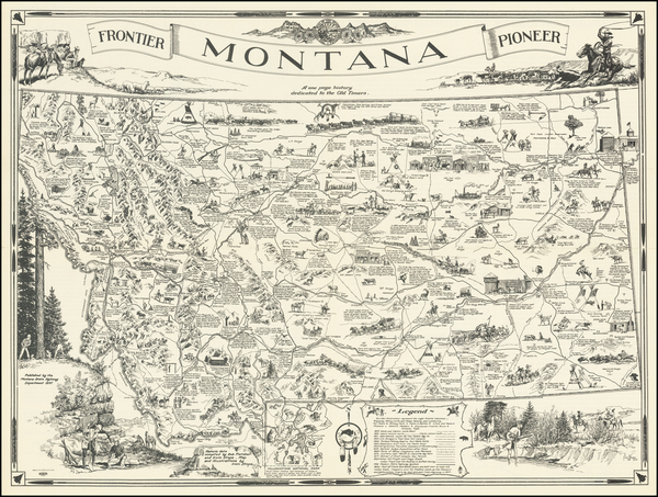 Montana and Pictorial Maps Map By Irvin Shope