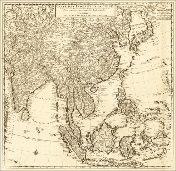 0-China, India, Southeast Asia, Philippines and Indonesia Map By Johannes Covens  &  Cornelis