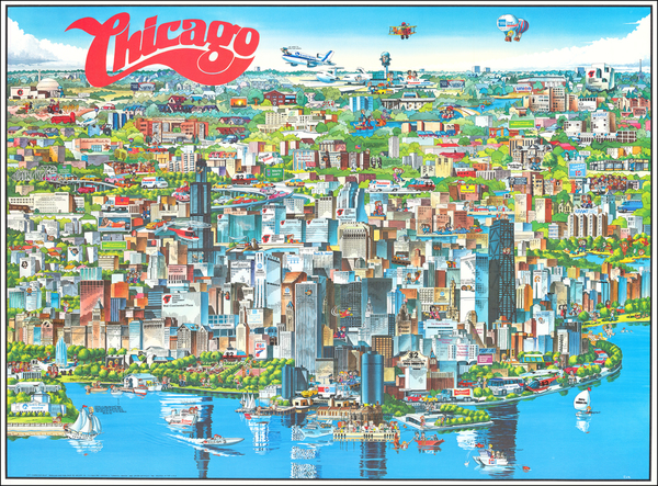 77-Pictorial Maps and Chicago Map By Archar Inc.