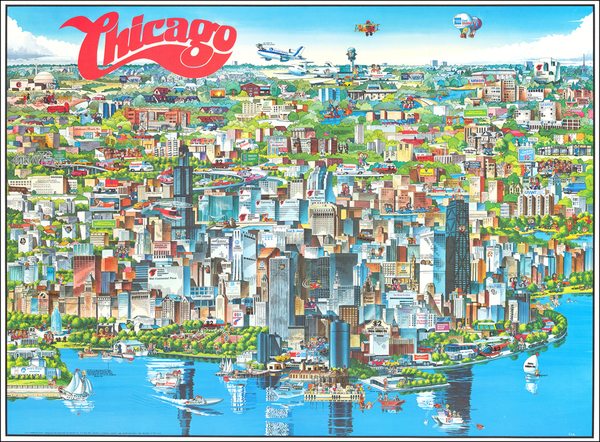 89-Pictorial Maps and Chicago Map By Archar Inc.