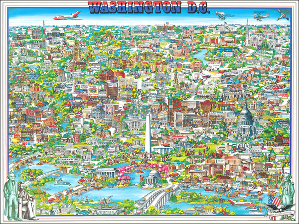 3-Washington, D.C. and Pictorial Maps Map By Archar Inc.