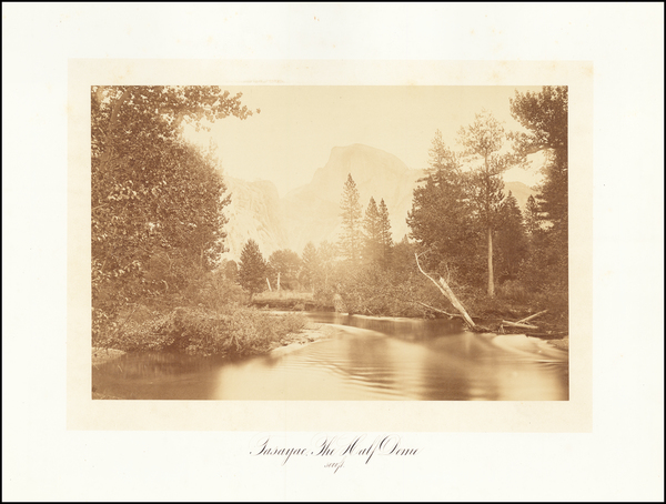 31-Yosemite Map By Carleton E. Watkins