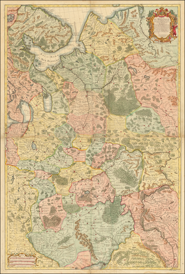 47-Russia and Ukraine Map By Joseph Nicholas de L'Isle