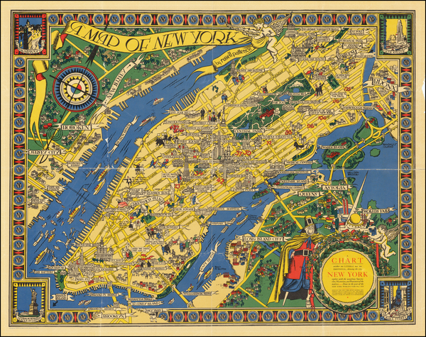 New York City and Pictorial Maps Map By Russell Patterson