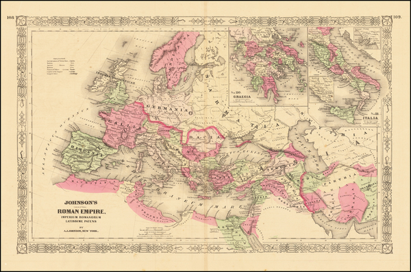 95-Europe, Balkans, Italy and Mediterranean Map By Alvin Jewett Johnson