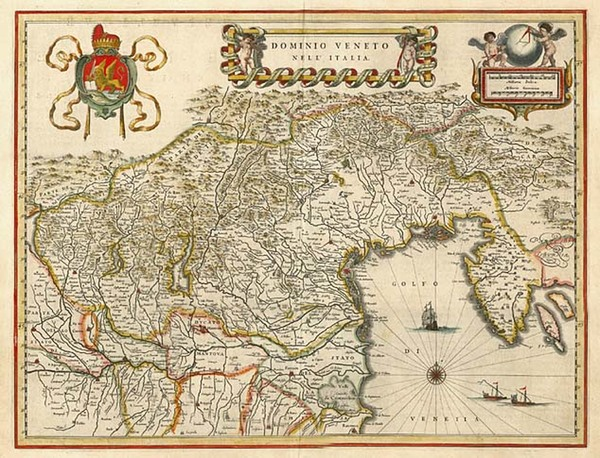 65-Europe, Balkans and Italy Map By Willem Janszoon Blaeu