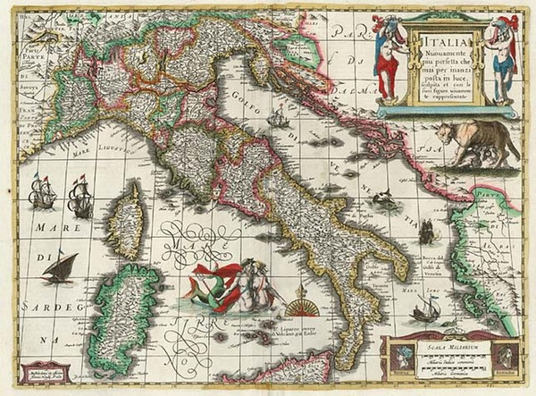 88-Europe and Italy Map By Henricus Hondius
