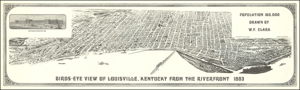 77-Kentucky Map By W. F. Clark