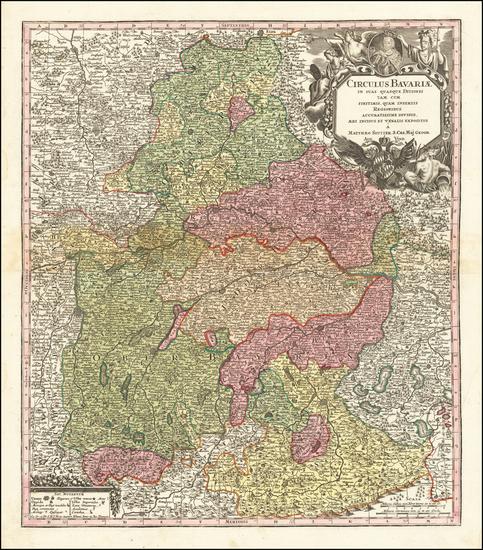 Germany Map By Matthaus Seutter