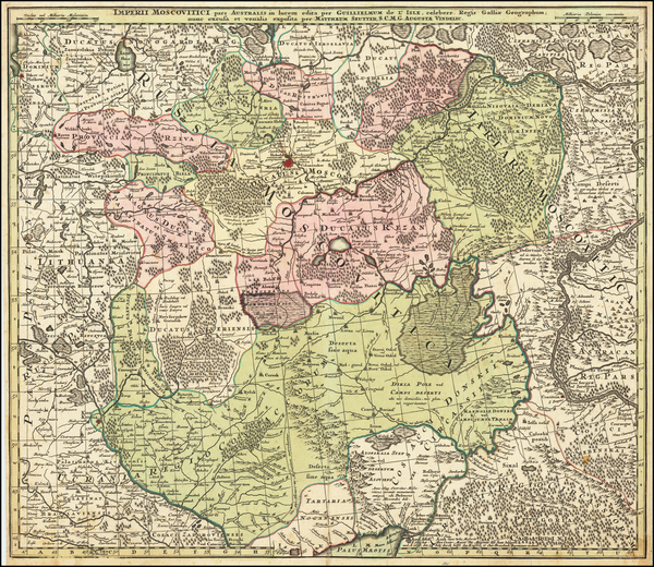 78-Russia and Ukraine Map By Matthaus Seutter