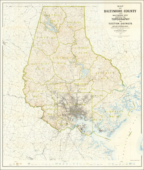 36-Maryland Map By Maryland Geological Society