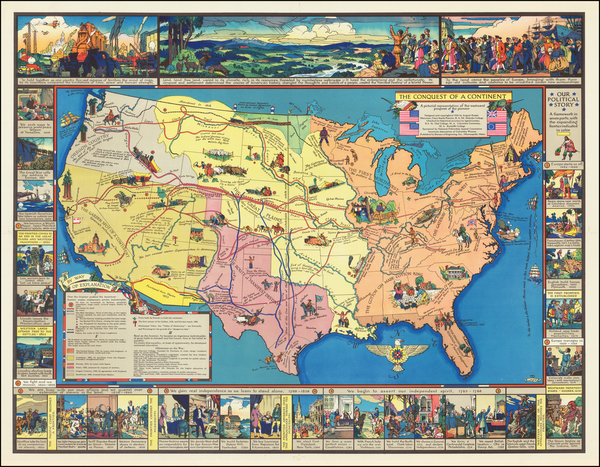 United States and Pictorial Maps Map By August Kaiser