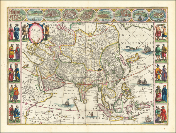 6-Asia Map By Willem Janszoon Blaeu