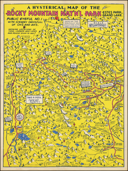 99-Colorado, Rocky Mountains, Colorado and Pictorial Maps Map By Lindgren Brothers