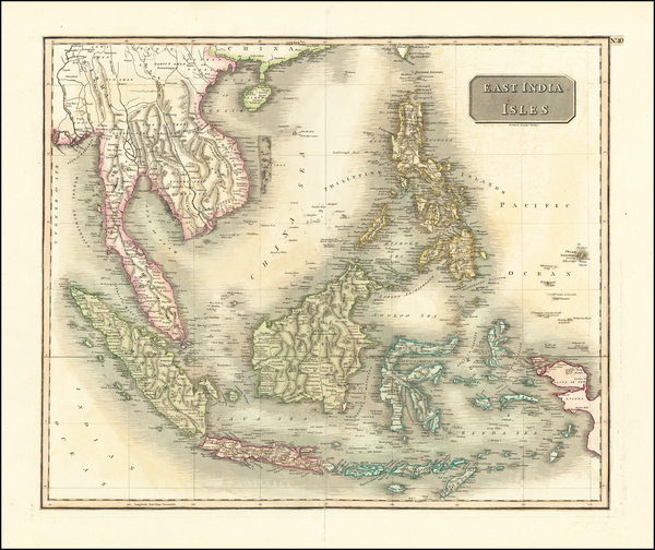 96-Southeast Asia, Philippines, Indonesia, Malaysia and Thailand, Cambodia, Vietnam Map By John Th