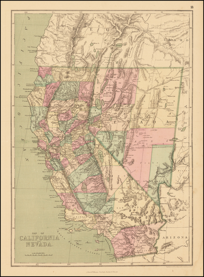 54-Nevada and California Map By J. David Williams