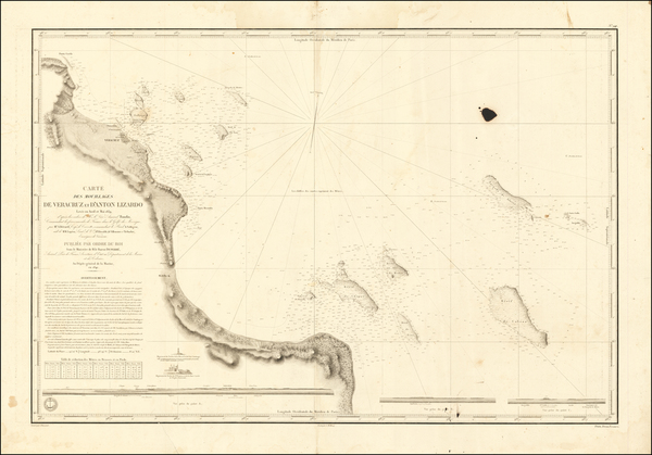 41-Mexico Map By Depot de la Marine