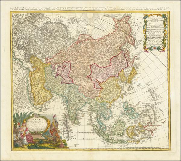 5-Asia Map By Homann Heirs / Johann Matthaus Haas