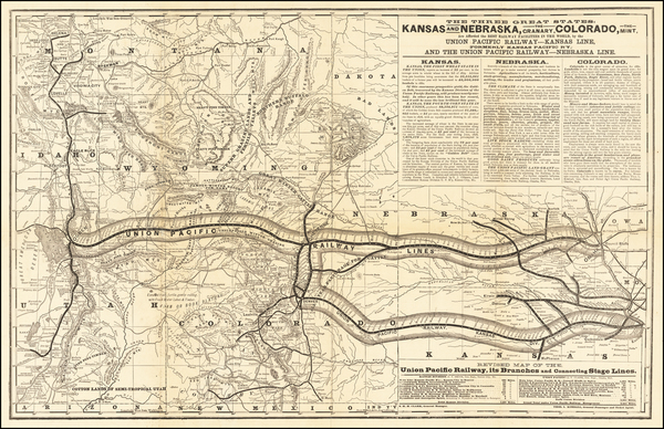 46-Kansas, Nebraska, Colorado, Utah, Colorado, Idaho, Montana, Utah and Wyoming Map By Rand McNall
