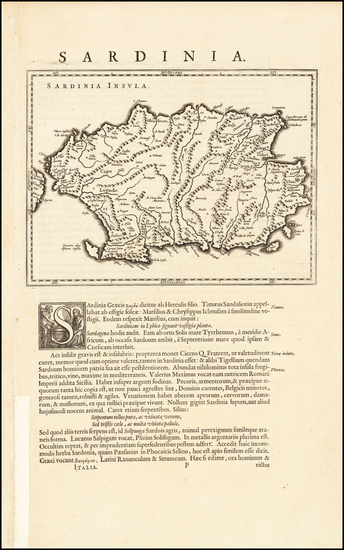 4-Sardinia Map By Willem Janszoon Blaeu