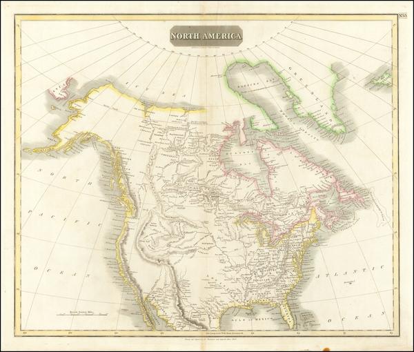 49-North America Map By John Thomson