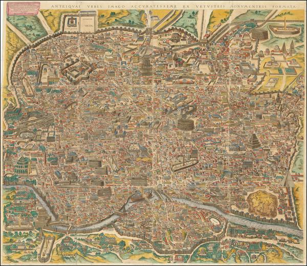 2-Rome Map By Michael Tramezini / Carlo Losi