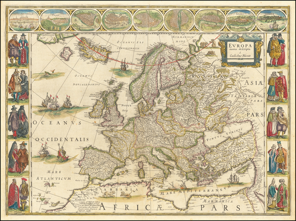 30-Europe Map By Willem Janszoon Blaeu