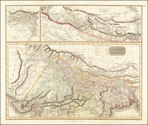 Asia, India and Central Asia & Caucasus Map By John Thomson