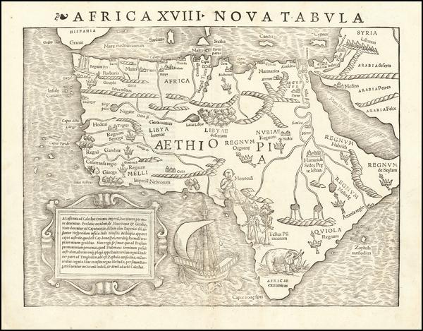 67-Africa Map By Sebastian Munster