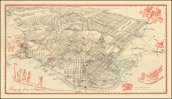 10-San Francisco Map By James Ladd Delkin