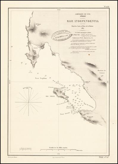 30-Peru & Ecuador Map By Depot de la Marine