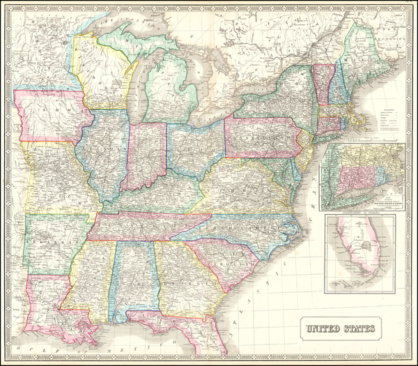 88-United States Map By George Philip & Son