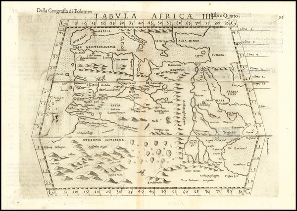 54-North Africa, East Africa and West Africa Map By Girolamo Ruscelli