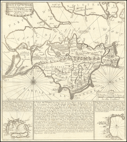 61-British Counties Map By Nicolas de Fer