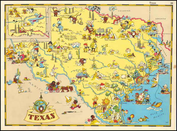 Texas and Pictorial Maps Map By Ruth Taylor White