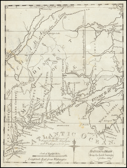 71-Maine Map By Jedidiah Morse