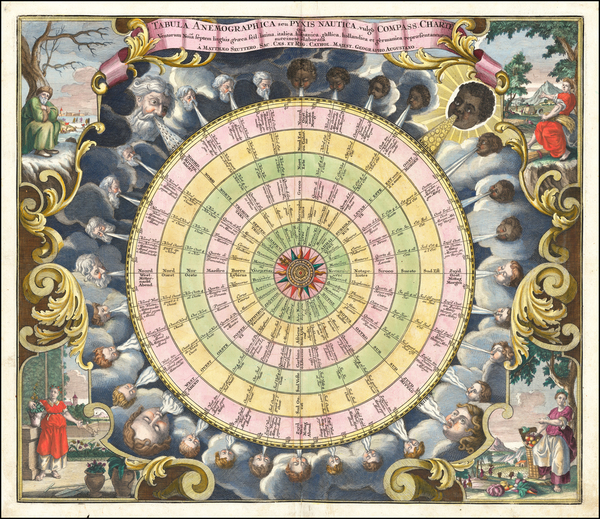 Curiosities and Celestial Maps Map By Matthaus Seutter