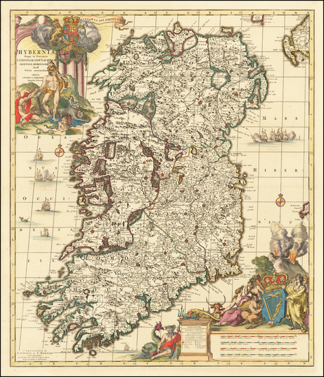 Ireland Map By Johannes Covens  &  Cornelis Mortier