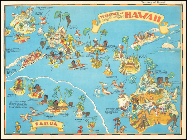 83-Hawaii and Hawaii Map By Ruth Taylor White